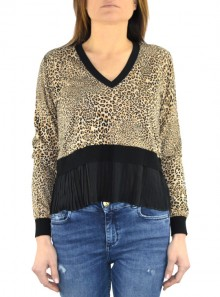 ANIMALIER PRINTED SWEATER WITH BALL