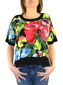 FLOWER PRINT BOXY TOP