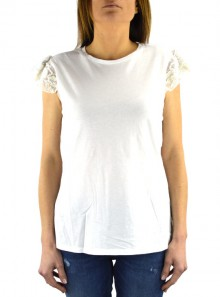 T-SHIRT WITH EMBROIDERY AND STRASS