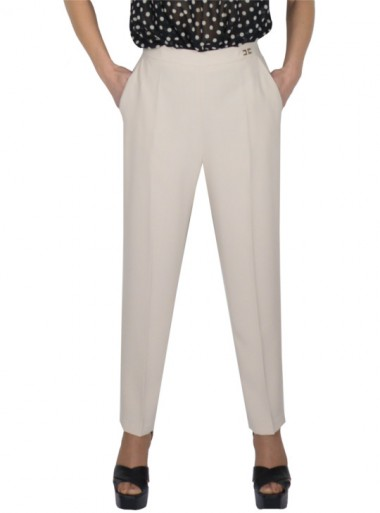 HIGH-WAISTED TROUSERS WITH A BAND