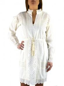 TwinSet ABITO CON RICAMO SANGALLO E VOLANT 191TT2044 - Tadolini Abbigliamento