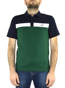 CONTRAST PANEL POLO SHIRT