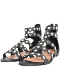 LEATHER SANDALS WITH STUDS