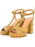 LEATHER SANDALS WITH INLAYS