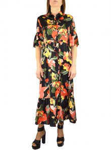 CHAMISIER LONG DRESS WITH FLOWERED PRINT Gervasiol