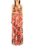 LONG DRESS WITH FLORAL FANTASY AND SEQUINS Keller