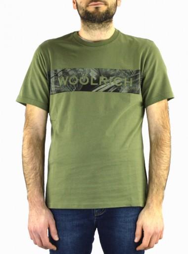 Woolrich FLOREAL LOGO TEE WOTEE1154 - Tadolini Abbigliamento