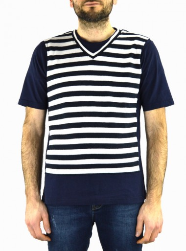 Rossieur T-SHIRT WITH TWO-COLOR STRIPES