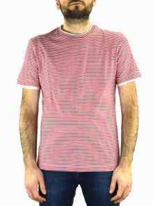 STRIPED T-SHIRT WITH CONTRASTING EDGES