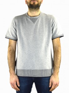 CREWNECK SWEATSHIRT SHORT-SLEEVED