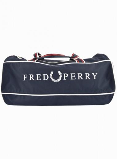 Fred Perry Borsa Maxi Tracolla Uomo Retro Barrel L5275 Blu