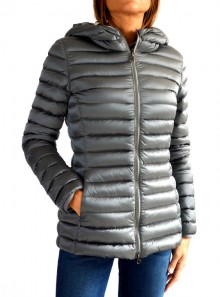 MEDIUM-LENGTH GLOSSY DOWN JACKET