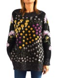 FLORAL JACQUARD JUMPER WITH EMBROIDERY