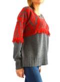 TwinSet MAXI MAGLIA JACQUARD CON DISEGNO ETNICO 192TP3042 - Tadolini Abbigliamento