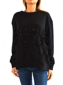 SWEATSHIRT WITH STONES AND FEATHERS