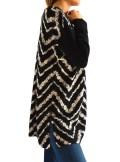 TwinSet MAXI MAGLIA STAMPA CHEVRON MOTIVI FLOREALI 192TP3367 - Tadolini Abbigliamento