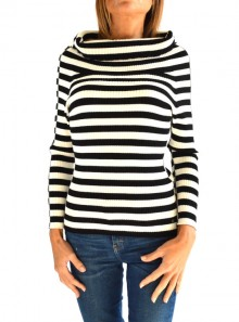 RIBBED JUMPER WITH PLUNGE NEK