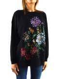 SWEATER WITH FLORAL EMBROIDERY AND BEADS