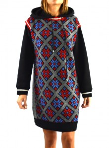 MINI DRESS IN JACQUARD KNIT