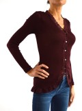CARDIGAN WITH LACE PROFILES