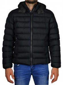 SEMI-GLOSSY DOWN JACKET WITH A DETACHABLE HOOD