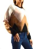 JACQUARD CREW-NECK JUMPER WITH RHOMBUS