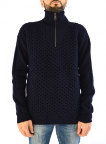HALF ZIP TURTLENECK JUMPER