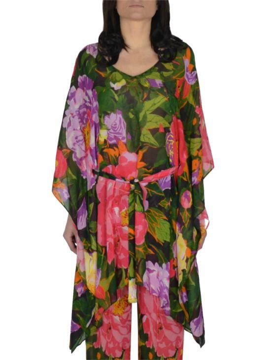 89027815c0fe TwinSet CAFTANO CON STAMPA FIORI TS824N - Tadolini Abbigliamento