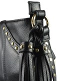 FAUX LEATHER SHOULER BAG WITH STUDS