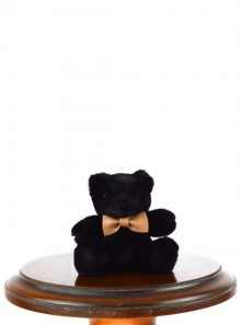 FAUX FUR TEDDY BEAR KEYRING