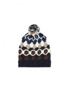 Woolrich JACQUARD PON PON BEANIE HAT - WOACC1654 3496 - Tadolini Abbigliamento