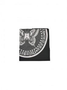 TwinSet SCIARPA CON MAXI STAMPA FARFALLA E BORDI IN PIZZO 192TA440D - Tadolini Abbigliamento
