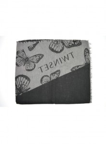 BUTTERFLY SCARF WITH JACQUARD LOGO