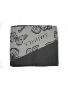 TwinSet SCIARPA CON FARFALLE E LOGO JAQUARD 192TA4409 - Tadolini Abbigliamento