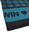 KEFIAH SCARF WITH SCOTTISH PRINT AND LOGO