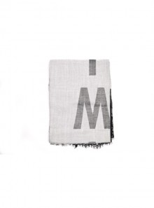 FANTASY ANIMALIER SCARF WITH LACE EDGE AND LOGO
