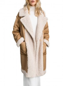 FAUXSHEARLING REVERSIBLE COAT