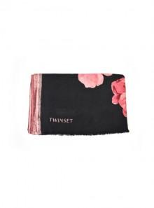 TwinSet SCIARPA FANTASIA A FIORI CON BORDI IN LUREX 192TA4423 - Tadolini Abbigliamento