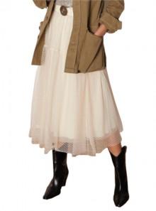 Vicolo GONNA LUNGA IN TULLE RICAMATO - TK0125 - Tadolini Abbigliamento
