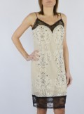 LACE SLIP DRESS WITH EMBROIDERY