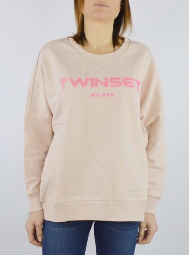 TWINSET Milano MAXI FELPA CON LOGO IN RILIEVO - 201TP2083 00690 - Tadolini Abbigliamento