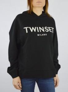 TWINSET Milano MAXI FELPA CON LOGO RICAMATO - 201TP2080 00006 - Tadolini Abbigliamento