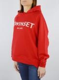 TWINSET Milano MAXI FELPA CON LOGO RICAMATO - 201TP2080 03659 - Tadolini Abbigliamento