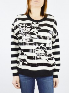 FULL SEQUIN STRIPED JUMPER