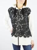 My Twin TWINSET MAXI FELPA CON PIZZO - 201MP2141 - Tadolini Abbigliamento