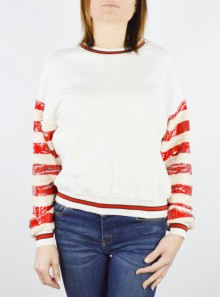 "SWEATSHIRT WITH SEQUINS ON THE SLEEVES ""PAMUK"""