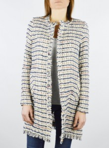 "JACKET WITH FRINGED EDGES ""NORDIS"""