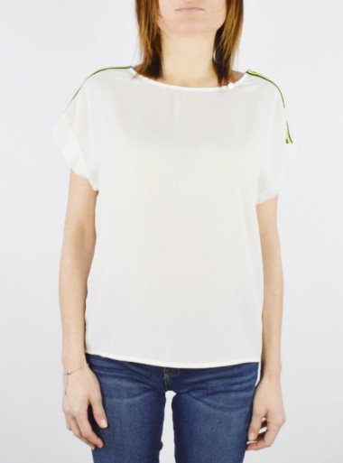 BLOUSE WITH FLUORESCENT BANDS