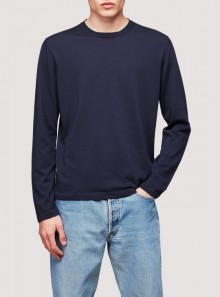 KNIT CREW NECK COTTON GARMENT DYED