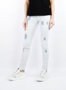 JEANS WITH SEAMS AND SEQUINS
